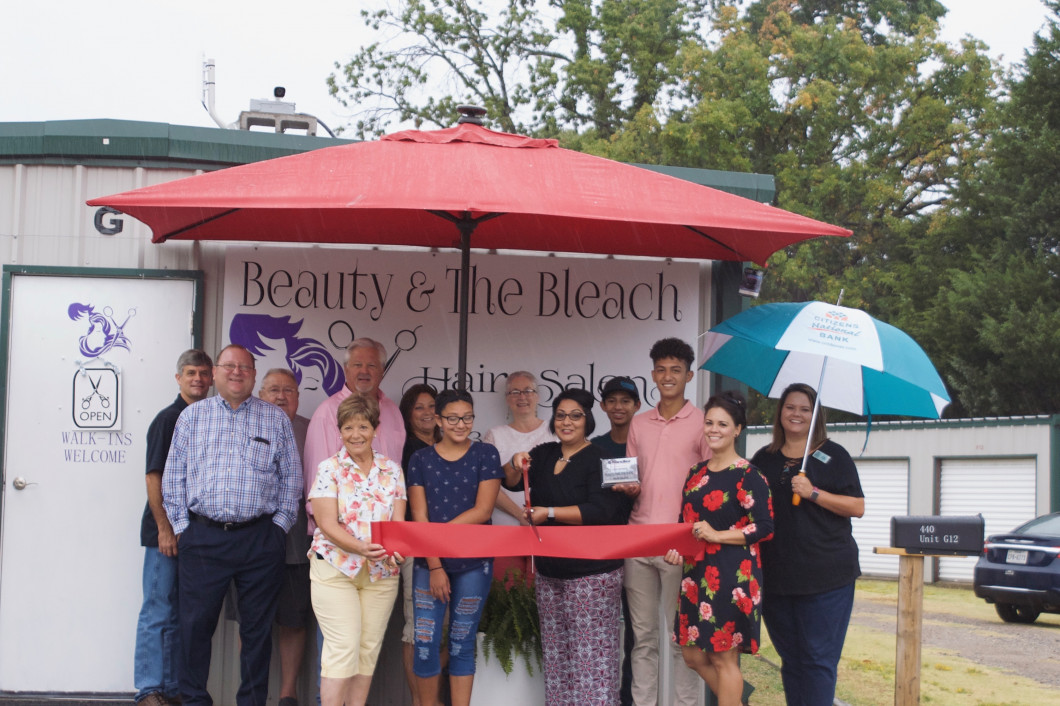 Ribbon Cutting for Beauty and the Bleach Hair Salon